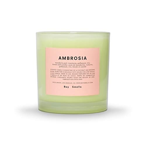 Boy Smells Chromesthesia Collection Ambrosia Candle, All Natural Beeswax and Coconut Wax Blend with Braided Cotton Wick, 50 Hour Burn Time, 8.5 Ounces
