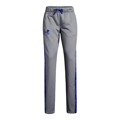 Kids Pant Fleece - Under Armour Girls Armour Fleece Pants, Steel Light Heather (035), Youth Large