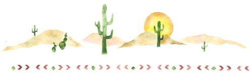 Designer Stencils Southwest Border with Sun/Cactus Wall Stencil SKU #751 by