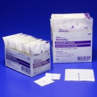 Excilon AMD Antimicrobial Sterile Gauze Split Drain Sponges - 6 ply 4