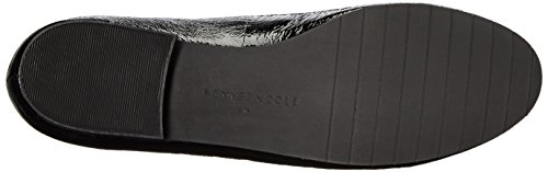 Kenneth Cole New York Womens Westley Flat Patent Slip-on Dagdriver Svart