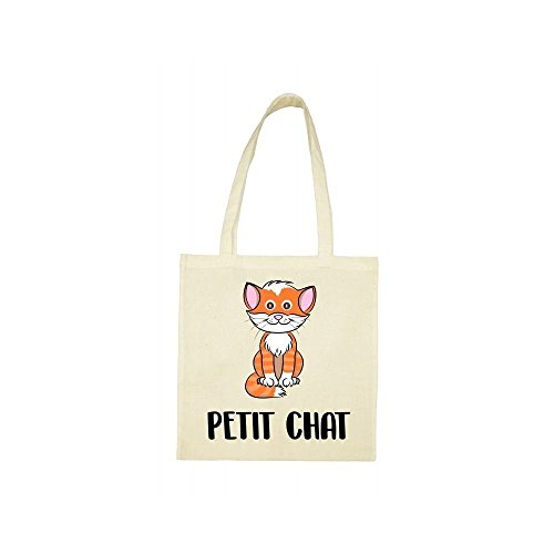 chat Tote petit beige bag Tote bag beige petit Tote chat T7aanXxW