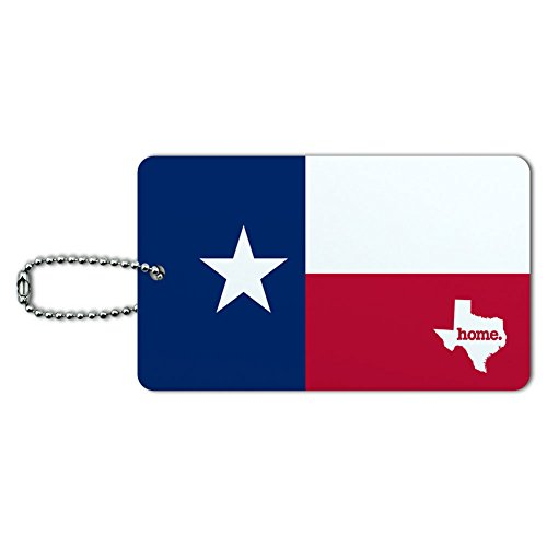 (Texas TX Home State ID Tag Luggage Card Suitcase Carry-On - Flag)