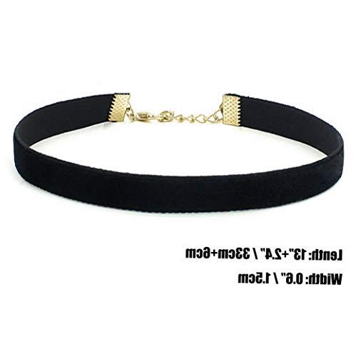 Campton Women Gothic Lace Heart Charms Velvet Pendant Hippy Choker Necklace for Women | Model RNG - 12213 | Plain Velvet-20MM