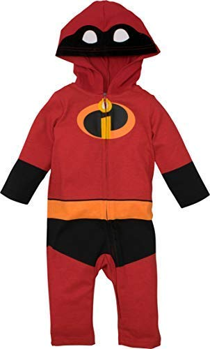 Disney Pixar The Incredibles Baby Boy Girl Costume Coverall with Hood 24 Months -