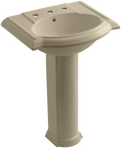 Mexican Pedestal (KOHLER K-2286-8-33 Devonshire Pedestal Bathroom Sink with 8