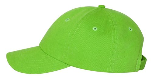 Valucap - Adult Bio-Washed Unstructured Cap - VC300A - Adjustable - Neon Green -