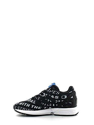 adidas Zx Flux C - Zapatillas de gimnasia de Material Sintético para niño negro blanco y negro blanco y negro