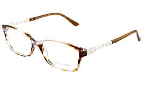 Bvlgari Women's BV4061B Eyeglasses Variegated Violet/Brown - Bvlgari Glasses Frames