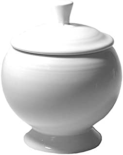 product image for Fiesta White 498 9-Ounce Covered Sugar Bowl