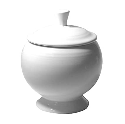 Fiesta White 498 9-Ounce Covered Sugar Bowl  sc 1 st  Amazon.com & Amazon.com: Fiesta White 498 9-Ounce Covered Sugar Bowl: Dinnerware ...