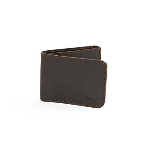 Shielded Warranty Wallet Coffee Wallet 100 Leather Year Simple 100 Grain Saddleback with Dark Leather Bifold Full Small RFID wtZnqXU