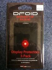 NEW OEM MOTOROLA DROID RAZR MAXX HD RAZR HD AT926M XT926 ANTI SCRATCH SCREEN PROTECTORS 3 PACK