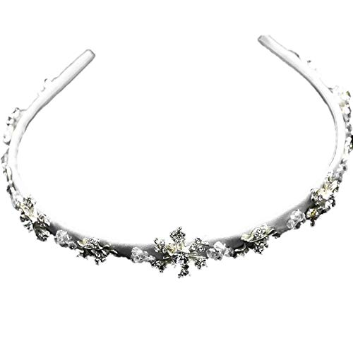 Silver Crystal Snowflakes Winter Wonderland Holiday Hairband