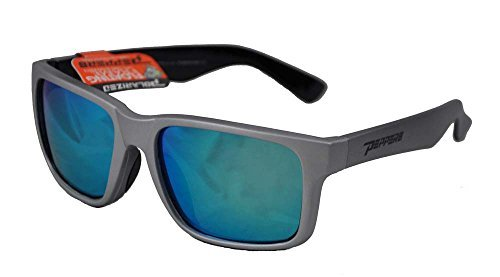 e1e9747c6e Peppers Polarized Sunglasses Beachcomber Matte Silver Polarized Blue Mirror  Lens