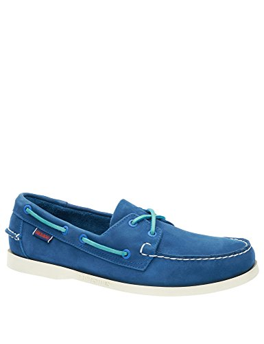Sebago Men's Leather Men's Blue Blue Docksides Leather Shoes Nubuck wf5wdAqXxr