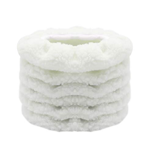 AUTDER Car Polisher Bonnet (5 to 6 Inch) - Woolen Max Waxer Pads - Polishing Bonnet Pad for Most Car Polishers Pack of 6Pcs - White