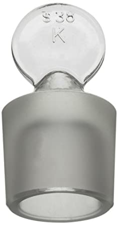 Kimax 41900R-38 Solid Glass Pennyhead Stopper for Flask, 38 Size (Case of 6)