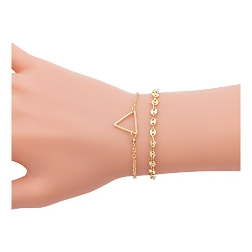 Zealmer Bracelet Pendant Triangle Rhinestone
