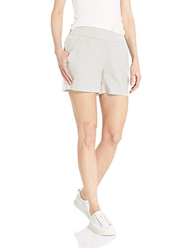 Amazon Brand - Daily Ritual Women's Linen Pull-On Short, White, ()