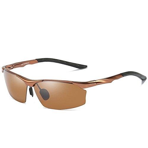 65bcc09027 De alta calidad TIANLIANG04 Gafas de sol polarizadas hombres de aluminio  magnesio para el guía de
