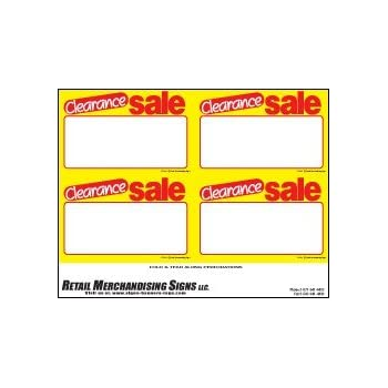 YZC210 Price Sign Laser Cards Clearance Sale PC Printable 3 Sizes Available 100 8 1