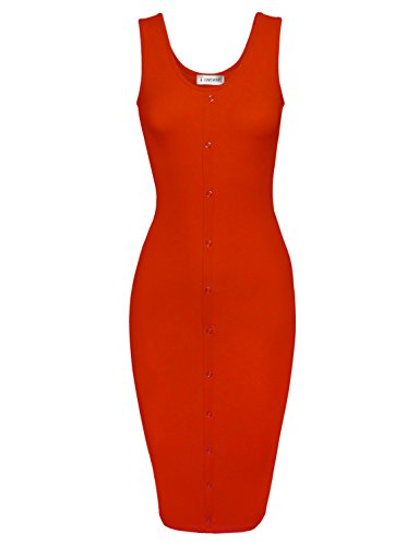 Toms Ware Buttons Sleeveless Bodycon