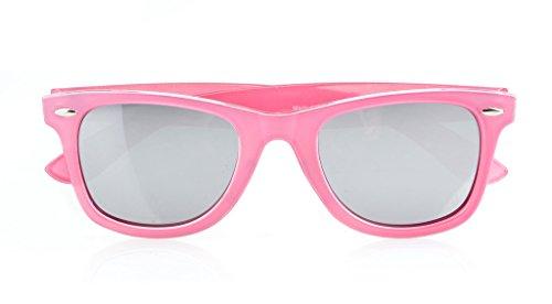 de 80 Clásico Espejo Rosado de sol Plata gafas los vendimia Eyekepper de años la polarizadas 5nTwUIRx