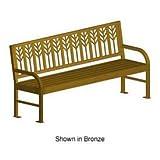 Spencer 74'' Bench, Metal Frame, Bronze