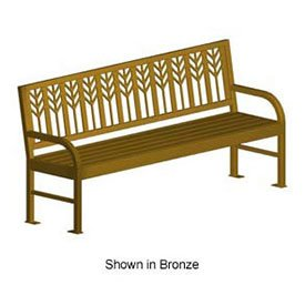 Spencer 74'' Bench, Metal Frame, Bronze