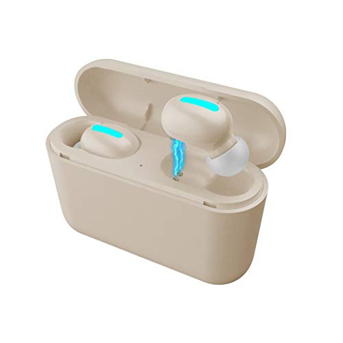 (Dirance @ Flagship TWS 5.0 Wireless Bluetooth Earbuds Headset with Charging Box Long Standby Sports Mini Earphones Boot Bright LED)