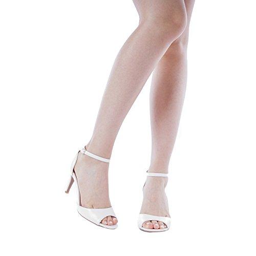 White Fashion PAIRS Stilettos Sandals DREAM Pump Pu Women's Open Toe EILEENA Heeled TtaIvxwq