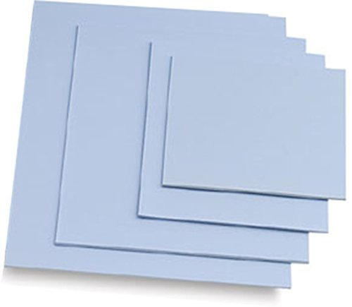 Easy Cut Carving Sheets - 4 Pack Blue Soft & Firm Artist Printmaking Block Printing set for sharp, clear prints Easy-To-Cut Linoleum (8'' × 10'')