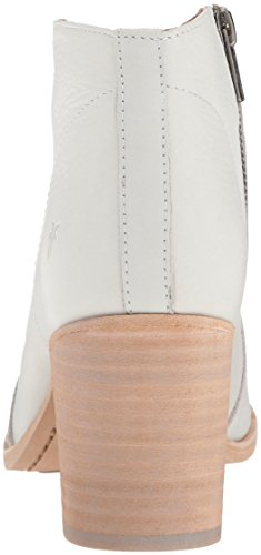 FRYE Women's Nora Zip Short Ankle Boot White tH4tP