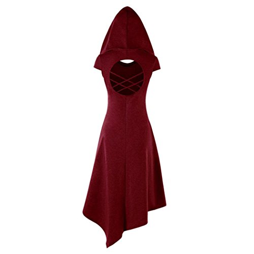 lgante Robe dcoupe Cocktail d't Fuibo Dress Longue Bodycon Robe Occasionnelle Femmes Tunique Mini Robe pour XL Femme Femme Red Soire de Robe mi Capuche Robe xwxTpq