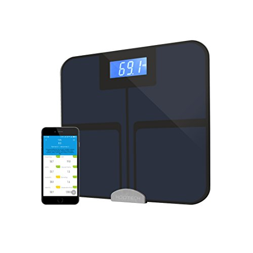 Kootech bluetooth smart scale-high precision body fat scale with body composition analyzer, ios and android smart phone compatible with 8 measured parameters (Smart Body Care)