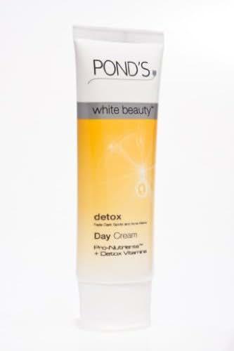 Genuine Pond's White Beauty Detox Spot-Less White Cream (40g) with Vitamin B3,B6,E & C-UV protection
