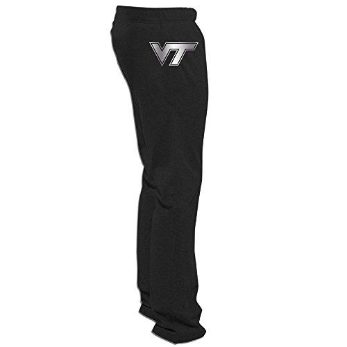 Virginia Billiard Table Tech Hokies - Virginia Tech Hokies Platinum Logo Men's Fleece Pant Black