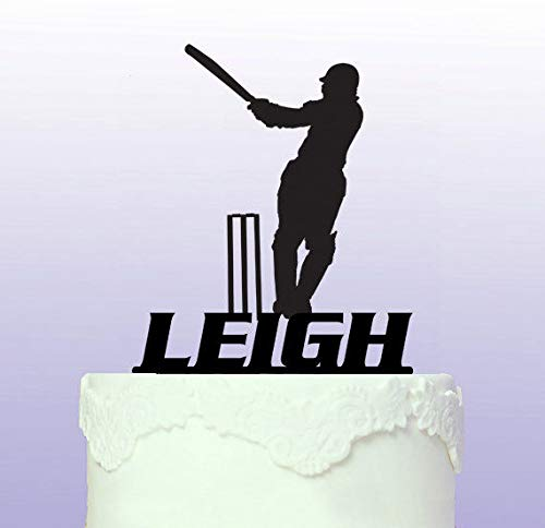 Personalised Cricketing Cake Topper Cricket