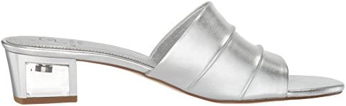 Adrianna Papell Women's Tiana Sandal, Silver Leather, 6.5 M US