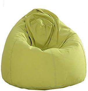豆袋 屋内および屋外のための怠惰な豆袋のソファーの単一の取り外し可能な洗濯できるソファー ソファー 豆袋 (色 : 緑, サイズ : 80*100cm)