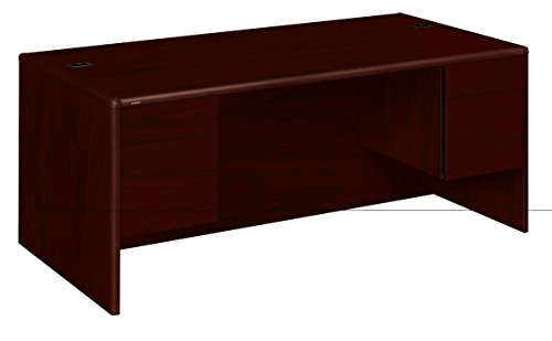 HON 10791NN 10700 Series Desk, 3 4 Height Double Pedestals, 72w x 36d x 29 1 2h, Mahogany