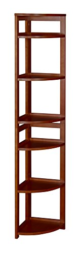 Regency Flip Flop 67-inch High Corner Folding Bookcase- Cherry