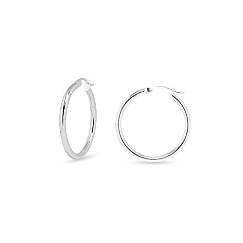 Sea of Ice Sterling Silver 2mm Round Tube Hoop Earrings covid 19 (2mm Round Tube Hoop Earrings coronavirus)
