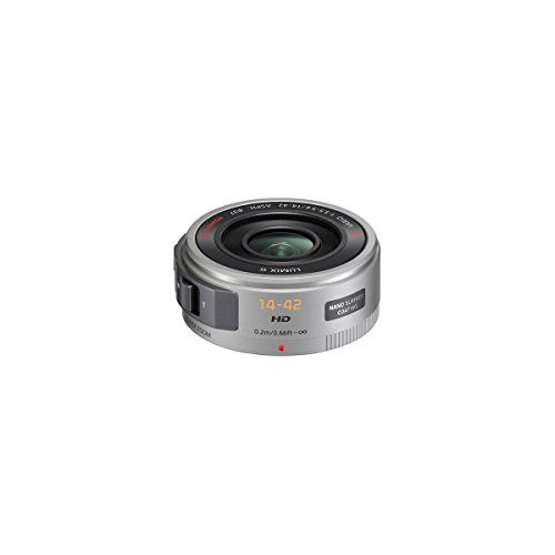 Panasonic 14-42mm F/3.5-5.6 Lumix GX Vario Power OIS Zoom Lens, Silver, for Micro 4/3 Lens Mount System - Bundle with 37mm UV Filter, 37mm CPL Filter, Lens Wrap, Cleaning Kit, Capleash, Software Pack