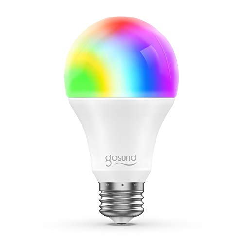 Smart WiFi 2.4G LED Light Bulb A19 800Lm, Multi-Color, Dimmable, No Hub Required, Free APP Remote Controlled Home Night lamp, Compatible with Alexa & Google Assistant(1 Pack)