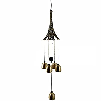AtneP Lilone Gifts Eiffel Tower 4 Bells Copper Wind Chimes Church Home Yard  Garden Hanging Decor: Amazon.in: Garden & Outdoors