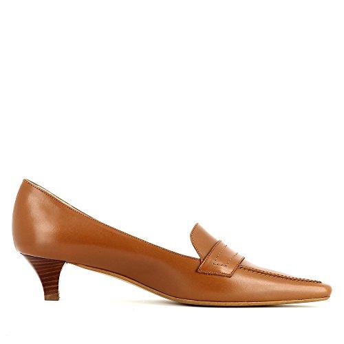 Femme Shoes LIA Cuir Escarpins Cognac Lisse Evita FSqwtP7w