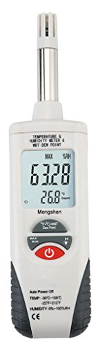 Price comparison product image Mengshen Digital Humidity & Temperature Meter. Multi-function Thermometer & Hygrometer,  with Wet Bulb / Dew Point,  for Daily Use and Industray,  M350