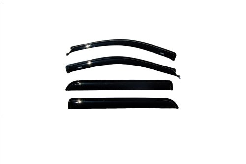 Auto Ventshade 94443 Original Ventvisor Side Window Deflector Dark Smoke, 4-Piece Set for 2004-2008 Ford F-150 SuperCrew, 2006-2008 Lincoln Mark LT